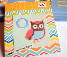 O Is For Owl Collage - Kids Nursery Childrens Wall Art Decor - Alphabet ABC - Owls Have Big Eyes