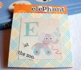 E Is For Elephant Collage - Kids Nursery Childrens Wall Art Decor - Alphabet ABC - At The Zoo