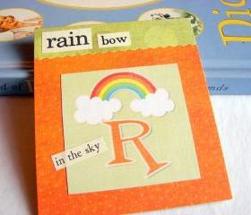 R Is For Rainbow Collage - Kids Nursery Childrens Wall Art Decor - Alphabet ABC - In The Sky